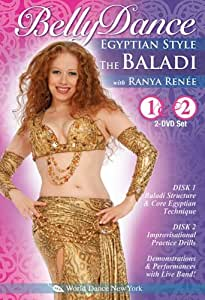 The Baladi: Bellydance Egyptian Style, with Ranya Renée (TWO-DVD SET): Open level traditional Egyptian style belly dance classes, Arabic-style belly dance instruction, Egyptian bellydancing how-to [ALL REGIONS DVD] [NTSC] [WIDESCREEN]