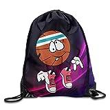 Jack16 Kordelzug Turnbeutel Rucksack Cute Funny Basketball Emoji-Blacks Fitnessraum für Männer Frauen
