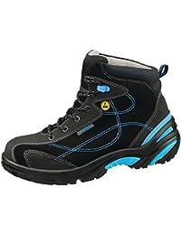 Abeba Uni6 Botas ESD Calzado de seguridad piel, talla 37, color negro y azul