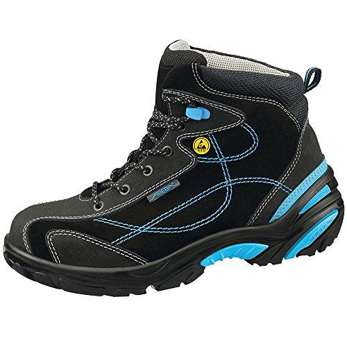 Abeba Uni6 Stivali ESD-Scarpe di di sicurezza, taglia 46, colore: nero/blu nero/blu