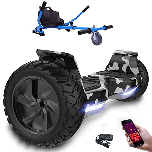 scooter con ruote 8.5 pollici, inlude kart, Balance Board SUV Off-Road, 700W con app, Bluetooth e LED + Hoverkart