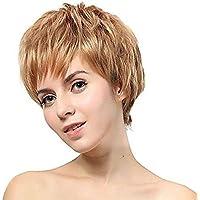Nuovo affascinante moda breve sintetico bellezza stratificato parrucche bionde pallido Bob per le donne naturale come capelli veri per partito/Fancy Dress/incontri