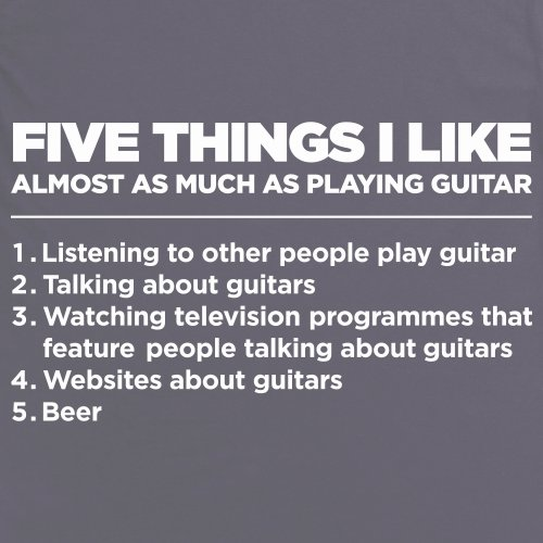 Five Things I Like - Guitar T-Shirt, Damen Anthrazit