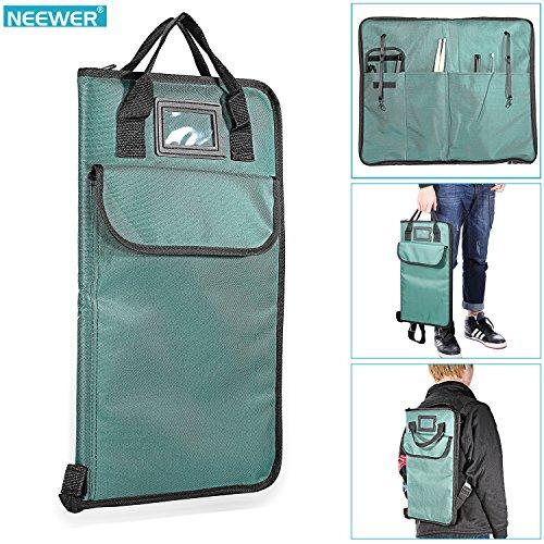 Neewer® Cyan Gepolsterte Nylon Drumstick-Tasche mit extra Tasche, Tragegriffe und verstellbare Rucksackgurte
