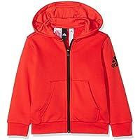 Adidas Yb Logo FZ Hood Chaqueta, Niños, Rojo (roalre/Negro), 128 (7/8 años)