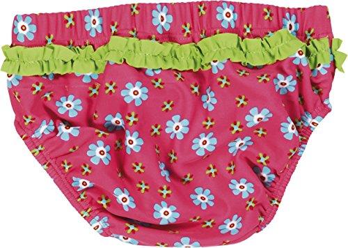 Playshoes Baby - Mädchen Schwimmwindel Badewindel, Badehose Blumen, UV-Schutz nach Standard 801 und Oeko-Tex Standard 100, Gr. 86 (Herstellergröße: 86/92), Mehrfarbig (original 900) -