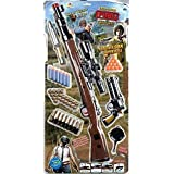Ngel Original PubG Theme Gun Toys Set with Assault Rifle, Toy Knife, Water and Soft Foam Bullets and Combat Cards Target Shooting Role Play Game for Kids