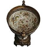 Pokale dekorative Schale Antik Stil Porzellan Messing Pokal antike Tisch Deko