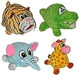 1 Stk. Türstopper als Plüsch Tier / Giraffe - Krokodil - Elefant - Tiger / Wandpuffer Türpuffer Stoff Türkeil für Kinder Fensterstopper