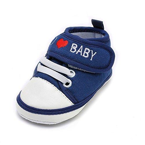 Chaussures Bébé Binggong Nouveau-né bébé Bambin garçons Filles Lettre Coeur Anti-dérapant Semelle Souple Chaussures décontractées