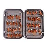 ROKOO 40 Teile/schachtel Fliegenfischen Locken Set Künstliche Insektenköder Forelle Fliegen Haken Tackle mit Box