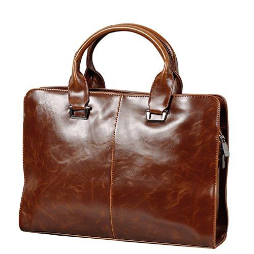 557e3426daf69 UBaymax Aktentasche Ledertasche Laptoptasche Notebook Tasche Handtaschen  Umhängetasche Businesstasche Schultertasche Leder Herren Männer 13  Zoll