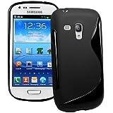 Mobile Bar S-Line Design Noir Coque de protection Silicone pour Samsung Galaxy S3 Mini i8190