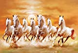 #10: ''INCLUDE'' White 7 Horse vastu painting, wall sticker, wallpaper, wall art, natural photo, special for vastu