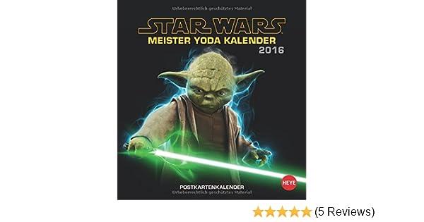 Meister Yoda Postkartenkalender 2016 Amazon De Bucher