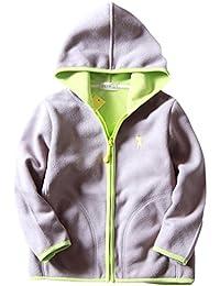 ZETA DIKES - Sweat-shirt Zippé à Capuche pour Bébé Garçon Fille Veste Polaire Manche Longue Manteau à Poche pour Automne Hiver 5 Couleur 2-8ans