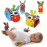 Cute Animal Infantil 4pcs (2pcs de la cintura y 2pcs calcetines) SOZZY SOCKS Bell correa traqueteos y calcetines de pie Finder conjunto de desarrollo de juguetes blandos para niños by Funky Planet