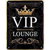 VIP LOUNGE - Plaque en métal 15 x 20 cm