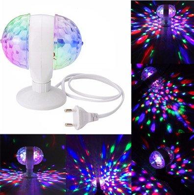 Luci palco, glisteny mini doppia palla lampadine rgb, cristallo magica  led, rotante rotazione automatica illuminazione, per club /party /dj bar /ktv/wedding