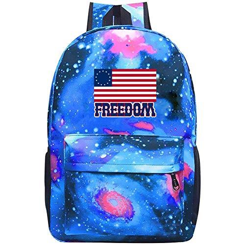 XKYZTKB Freedom Betsy Ross Flag Reise Laptop Rucksack Galaxy Muster Schultasche, blau, Einheitsgröße -