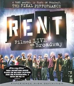 Rent : Filmed Live on Broadway [Blu-ray] [Region Free]