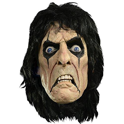 –Maske Lizenz Alice Cooper Latex Erwachsene–Einheitsgröße (Alice Cooper-halloween)