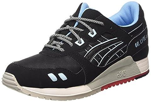 ASICS Gel-lyte Iii H637y-9090-5h, Unisex-Erwachsene Sneakers, Schwarz (black/black 9090), 37