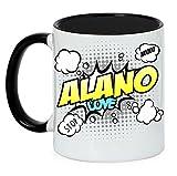 Hund Tasse COMIC - ALANO spanische Dogge - Hunde Fun Kaffeebecher Siviwonder