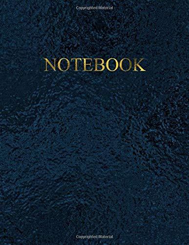 Notebook Quaderno per appunti con 100 pagine bianche e numerate Elegante colore Black Sea con scritte Oro Antico Misura A4 Diario Doddles Schizzi