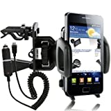 Wicked Chili Lüfterhalterung für Samsung i9100 Galaxy S II, i9001 S-Plus mit KFZ Ladekabel (1000mA, 12/24V) schwarz