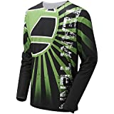 Tenn Mens Breeze MTB/Downhill Cycling Jersey - Lime Green