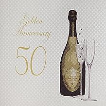 White cotton cards-Album fotografico per anniversario nozze d'oro, realizzata a mano, per 50° anniversario di matrimonio, colore: verde bottiglia