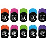 Fullmark Adhésif Permanent/Roller de Colle, 6 mm x 6 m Chaque, Couleurs Assorties, Pack DE 10