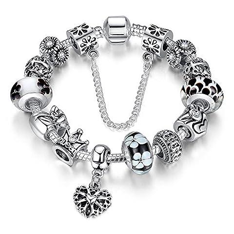 A TE® Bracelet Charms noir Femmes