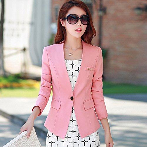 WYMBS 2017 La molla nuova Small Business Suit giacca femmina Sau San coreano abiti femminili per breve) cappotto femmina,XXL,rosa