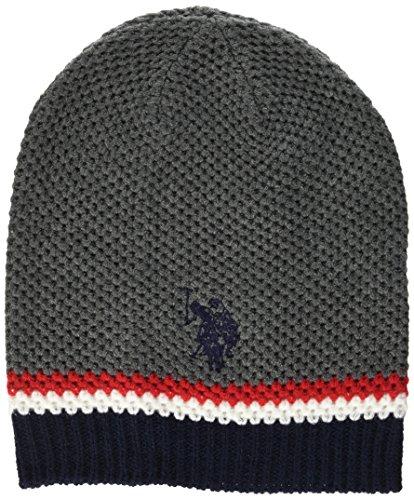 U.S.POLO ASSN. Honeycomb Hat, Cappello Uomo, Grigio Scuro Melange, Taglia Unica