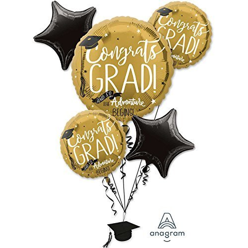 Amscan LAUREA The Adventure Begins Palloncino rivestito Bouquet grappolo