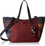 Desigual Bols Leon Togo Rot Blau 17WAXFGE-5011Damen Handtasche Tasche Henkeltasche Schultertasche