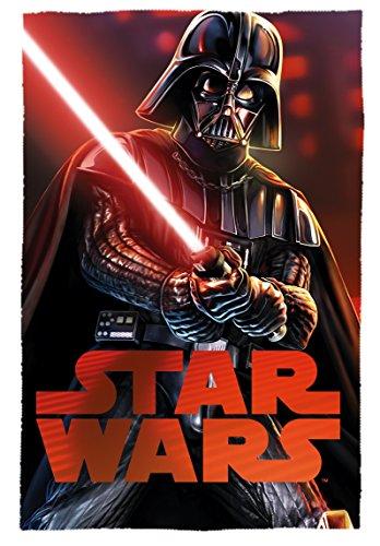 Star Wars Darth Vader Polar Fleece Decke, Polyester, mehrfarbig, Single