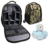 DURAGADGET Mochila Camuflaje con Compartimentos Desmontables para Robots educativos Dash y Dot - Wonder Workshop + Funda Impermeable