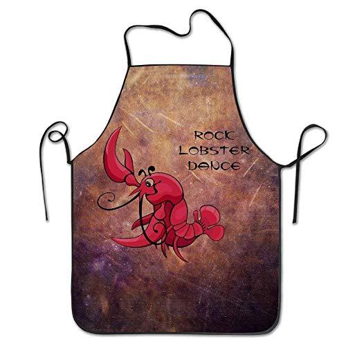 hef Kitchen Cooking Apron Bib Rock Lobster Dance Home Comfortable ()