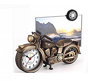 EZ Life Motorcycle Photo Frame with Desk Clock - Mix Color- 1 Pc
