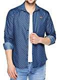 Fasnoya Men's Slim Fit Denim Shirt