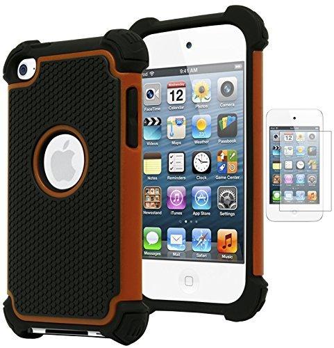 Bastex Hybrid Armor Hülle für Apple iPod Touch 4, 4. Generation-* * inkl. Displayschutzfolie * *, Orange Ipod Touch 4 Hybrid