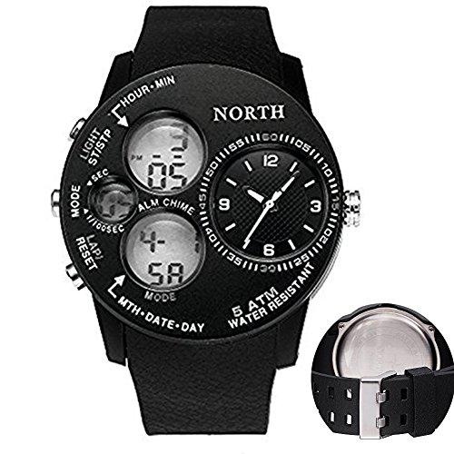 Outdoor s-shock Sports Herren Uhren Swim Klettern Alarm 5ATM Fashion Casual Digital Military Armbanduhr Herren LED Handgelenk Uhren für, weiß (Invicta Uhren Frauen Weiß)