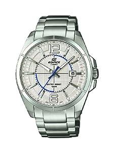 Casio EFR-101D-7AVUEF - Reloj analógico de cuarzo para hombre con correa de acero inoxidable, color plateado de Casio
