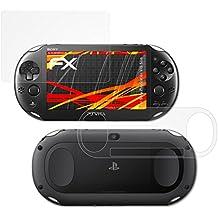 atFoliX Protector Película para Sony PlayStation Vita Slim Lámina Protectora de Pantalla - Set de 3 FX-Antireflex-HD antirreflectante de alta resolución Película Protectora