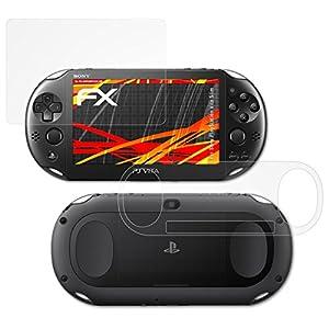 atFoliX Panzerfolie kompatibel mit Sony PlayStation Vita Slim Schutzfolie, entspiegelnde und stoßdämpfende FX Folie (3er…