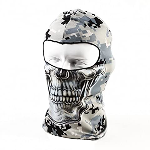 Your Choice Cagoule Ski Homme en Microfibre Masque Protecteur de Visage Anti-UV Coupe-Vente Cache de Cou Nez