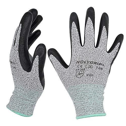 Hochwertige rutschfeste Arbeitshandschuhe Gartenhandschuhe mit Mikroschaum Nitrilbeschichtung, Nahtlose Nylon Strickhandschuhe, Touchscreen Handschuhe mit dehnbarer Passform, 1 Paar - Gr.8 / Large -